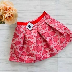 NWT Janie and Jack Pink Floral Girls Skirt
